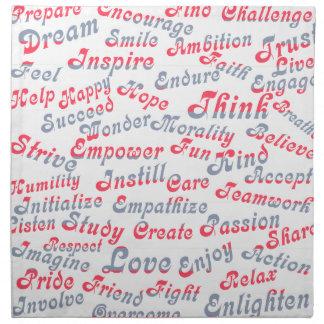 Take It To Heart Motivational Words Napkin