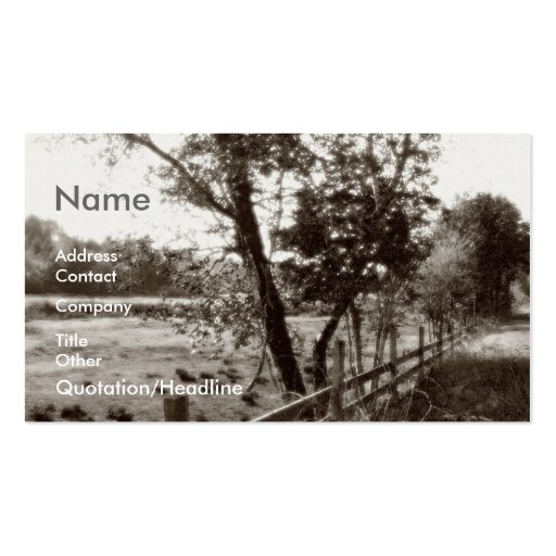 Take It To The Country Business Card