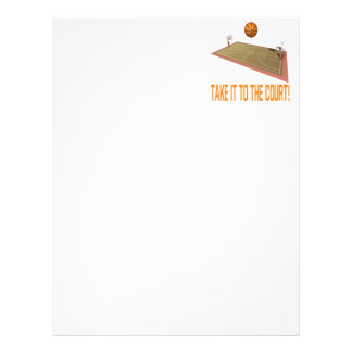 Take It To The Court Customized Letterhead