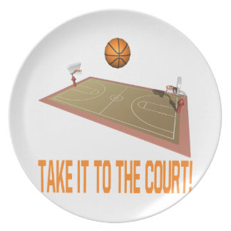 Take It To The Court Melamine Plate