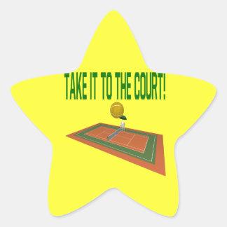 Take It To The Court Star Sticker