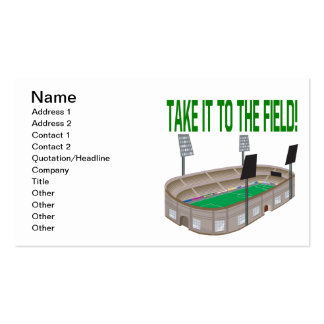 Take It To The Field Double-Sided Standard Business Cards (Pack Of 100)