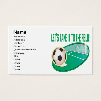 Take It To The Field Business Card