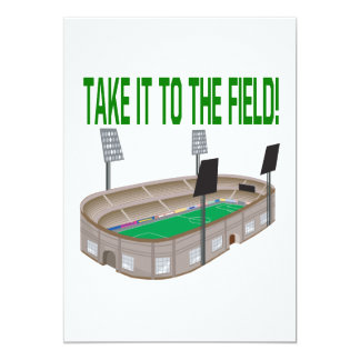 Take It To The Field 5x7 Paper Invitation Card