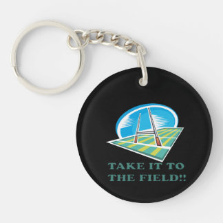 Take It To The Field Keychain