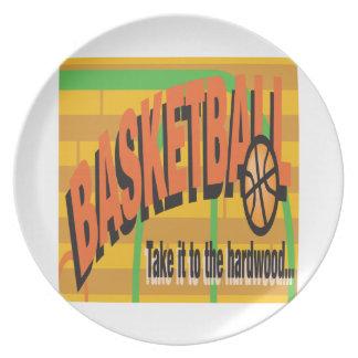 Take It To The Hardwood Melamine Plate