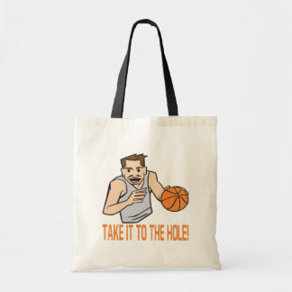 Take It To The Hole Tote Bags