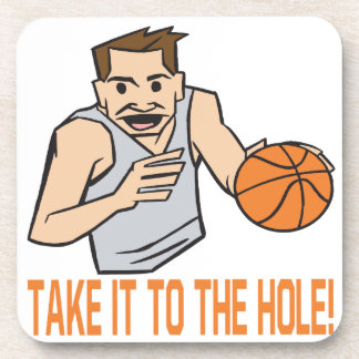 Take It To The Hole Beverage Coasters