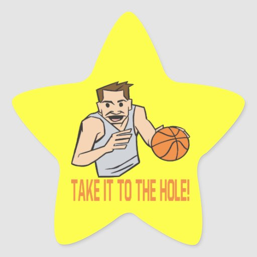 Take It To The Hole Star Sticker