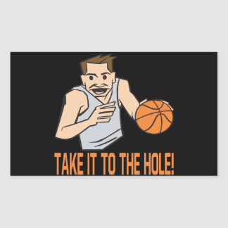 Take It To The Hole Rectangular Sticker