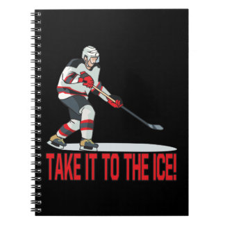 Take It To The Ice Spiral Notebook