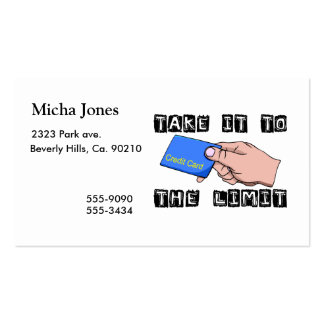 Take It To The Limit Credit Card Business Card