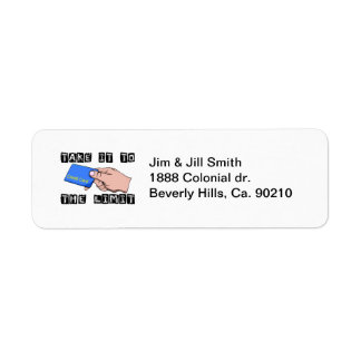 Take It To The Limit Credit Card Return Address Label