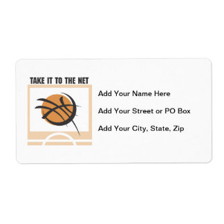 Take it to the Net T-shirts and Gifts Personalized Shipping Label