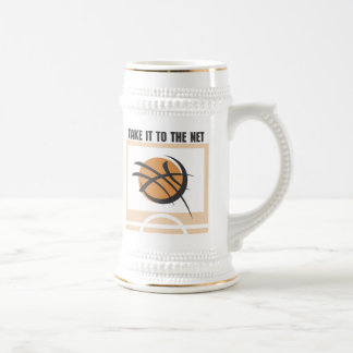 Take it to the Net T-shirts and Gifts 18 Oz Beer Stein