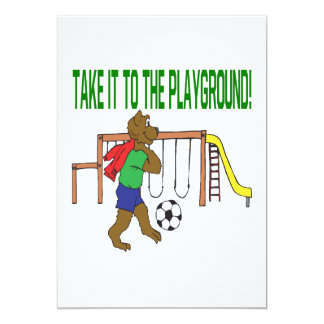 Take It To The Playground 5x7 Paper Invitation Card