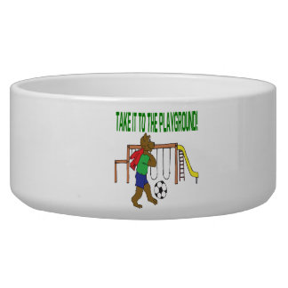 Take It To The Playground Dog Bowl