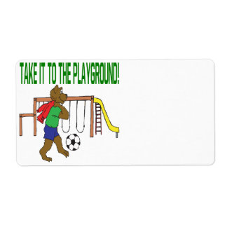 Take It To The Playground Shipping Label