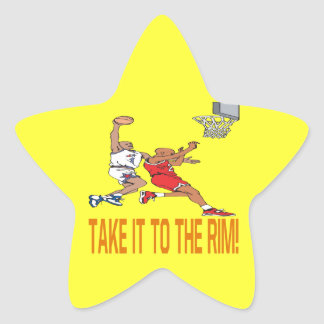Take It To The Rim Star Sticker