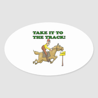 Take It To The Track Oval Sticker