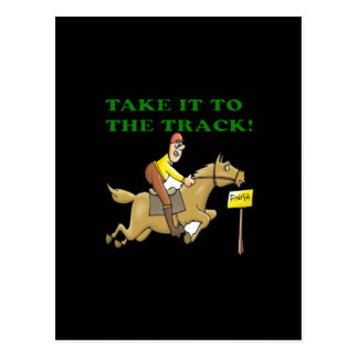 Take It To The Track Postcard