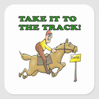 Take It To The Track Square Sticker