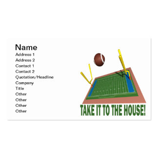 Take It ToThe House Double-Sided Standard Business Cards (Pack Of 100)