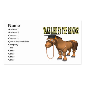 Take Life By The Reigns Double-Sided Standard Business Cards (Pack Of 100)