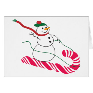 Take me away! snowman card