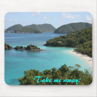 Take me away to Trunk Bay!! Mouse Pads