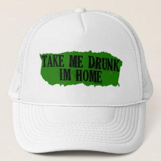 Take Me Drunk Green Trucker Hat