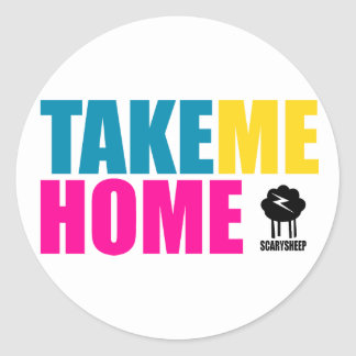 Take Me Home Classic Round Sticker