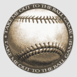 Take Me Out to the Ball Game Classic Round Sticker