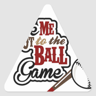Take Me Out To The Ball Game design Triangle Sticker
