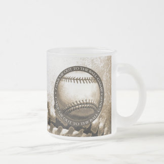 Take Me Out to the Ball Game Frosted Glass Coffee Mug