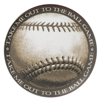 Take Me Out to the Ball Game Melamine Plate