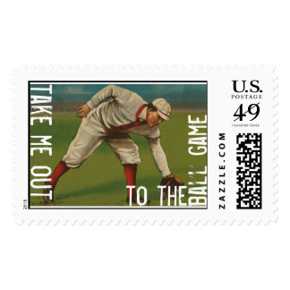Take Me Out To The Ball Game Postage Stamp