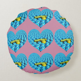 Take Me Out To The Ball Game Round Pillow