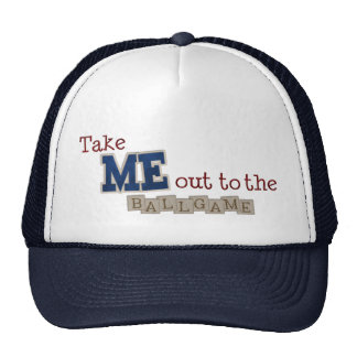 Take me out to the ball game trucker hat