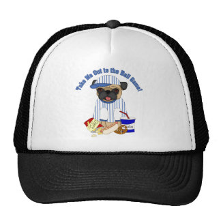Take Me Out to the Ballgame Pug Tees, Gifts Trucker Hat