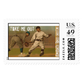 Take Me Out With The Crowd Postage Stamp