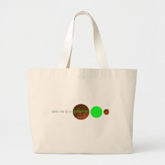 Take me to a greener planet. canvas bags