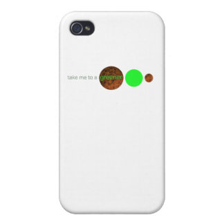 Take me to a greener planet. iPhone 4 cases