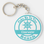 Take Me To Clearwater Beach Basic Round Button Keychain