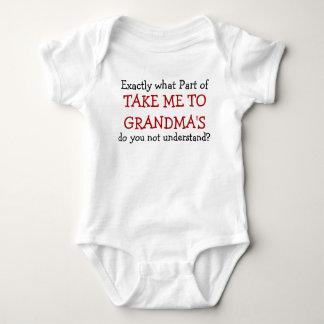Take Me To Grandma's Baby Infant Bodysuit