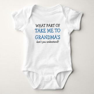 Take Me to Grandma's bestselling baby bodysuit
