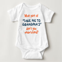 Take Me to Grandma's infant or toddler shirt! Baby Bodysuit