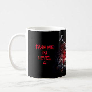 Take Me To Level 4 11 oz Classic White Mug
