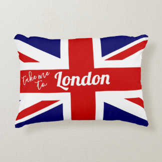 Take me to London | UK Flag / Union Jack Accent Pillow
