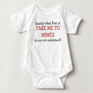 Take Me To Mimi's Baby Infant Bodysuit
